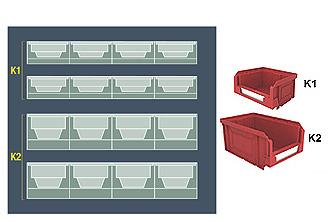 Pannello acciao vern. 500x450h vuoto per KeyBox cf.2pz