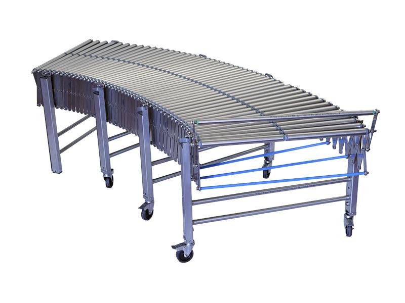 Rulliera estensibile con rulli in acciaio